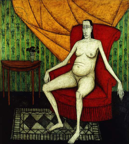 Woman Sitting; Femme Assise, 1953 (oil on canvas)