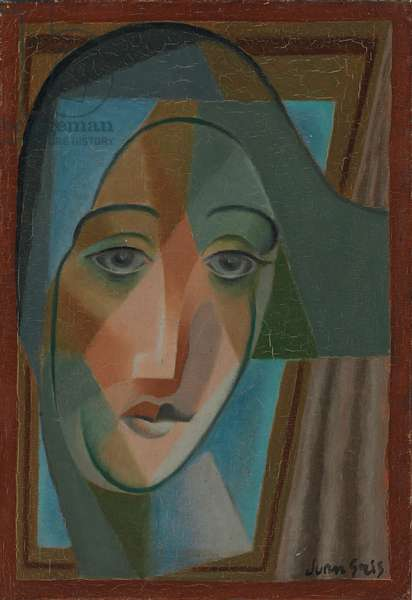 Head of a Harlequin; Tete d'Arlequin, 1924 (oil on canvas)