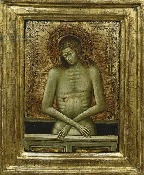 Christ at the Tomb, (tempera on gold ground panel)