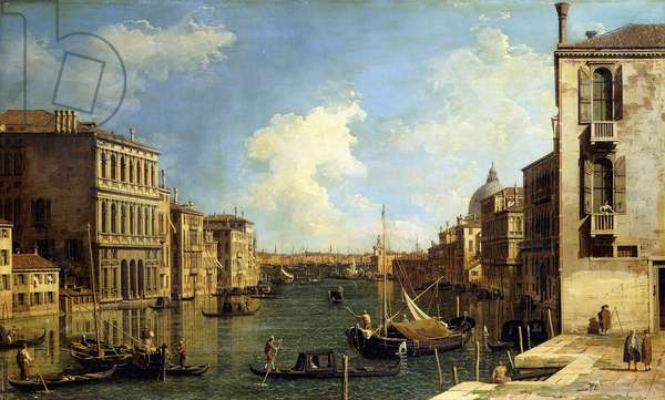 The Grand Canal, Venice, Looking East from the Campo di San Vio,  (oil on canvas)