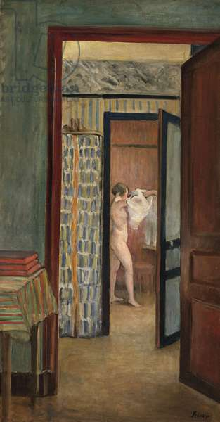 The Toilet (Nude dressing herself) (oil on canvas)
