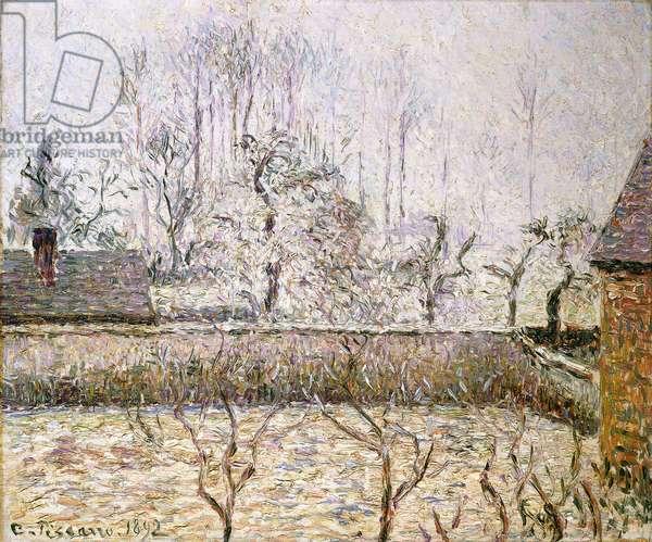 Landscape with Frost and Mist, Eragny; Paysage, Givre et Brume, Eragny,  (oil on canvas)