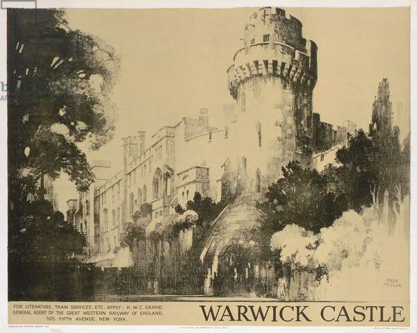 Warwick Castle, poster advertising the Great Western Railway (litho)