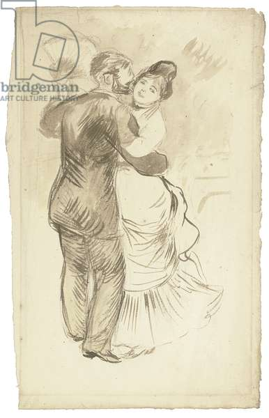 Study for 'Countryside Dance', 1883 (brush & ink and wash and pencil on paper)