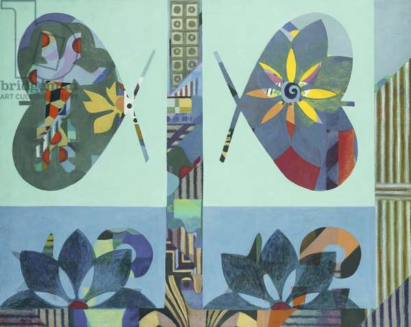 Wings, 1976 (acrylic on canvas)
