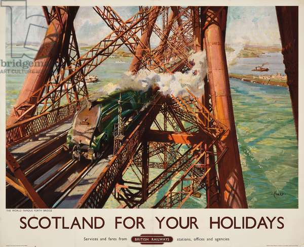'Scotland for your Holidays', a British Railways advertising poster, c. 1952 (colour lithograph)