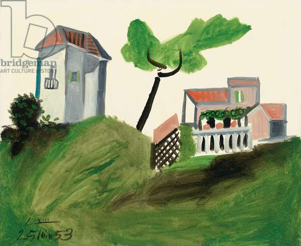 Houses at Vallauris, 1953 (oil on canvas)