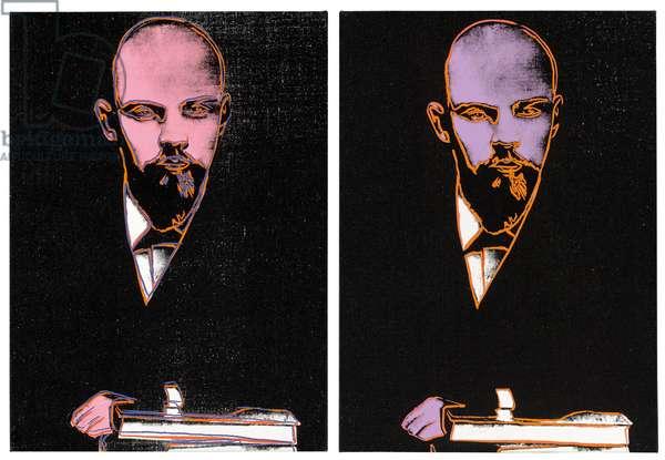 Double Lenin, 1986 (acrylic and silkscreen inks on canvas)