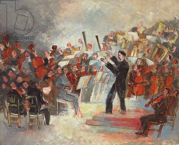 Symphony Orchestra, 1929 (oil on canvas)