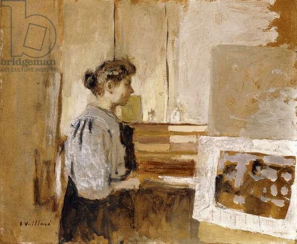 Woman in a Studio, c.1915 (oil on board)
