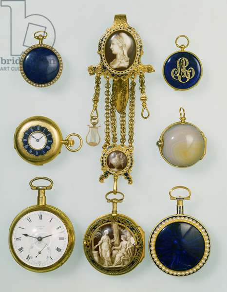 Collection of half hunter pocket watches, 19th century