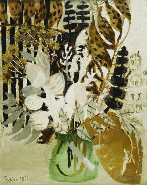 Still Life of Flowers, 1966 (oil on board)