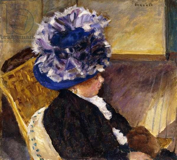 Young Woman in a Blue Hat; Jeune Femme au Chapeau Bleu, 1908 (oil on canvas)