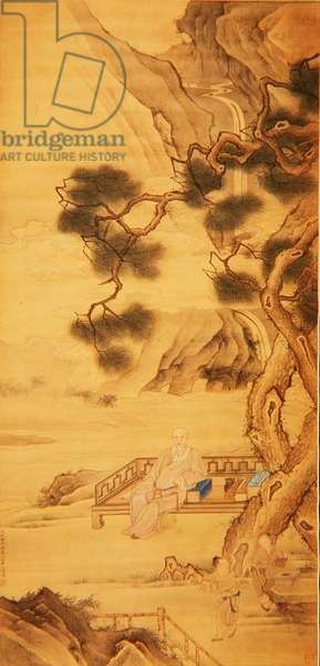 Portrait of the Scholar-official Han Yan (1637-1704) 1696 (ink and colour on silk)
