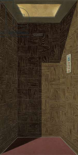 The Lift, 1967 (oil and sand on canvas)