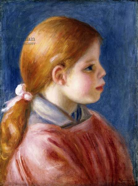 Head of a Young Girl, 1888 (oil on canvas)