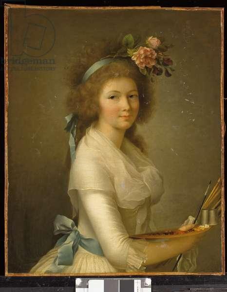 Self-Portrait (Autoportrait de l'artiste à la palette) (oil on canvas)