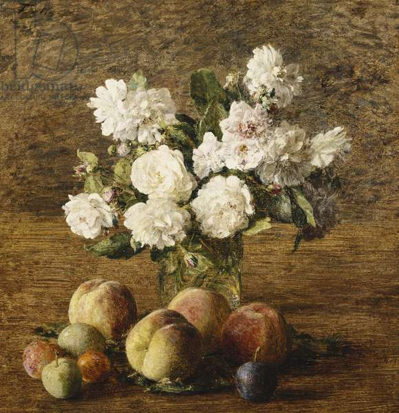 Still Life: Roses and Fruits; Nature Morte: Roses et Fruits, 1878 (oil on canvas)
