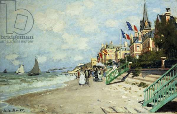 The Beach at Trouville; La Plage a Trouville, 1870 (oil on canvas)