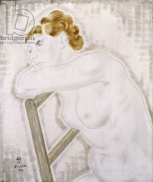 Female Nude Resting on a Chair; Femme Nue se Penchant sur une Chaise, 1928 (oil on canvas)