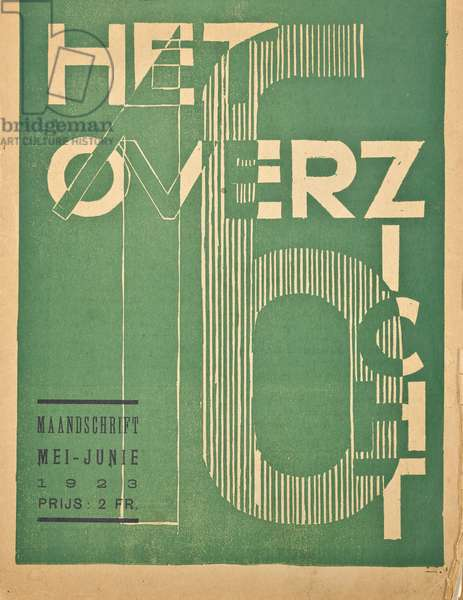 Cover for a 1923 issue of the magazine 'Het Overzicht', 1923 (lithograph)