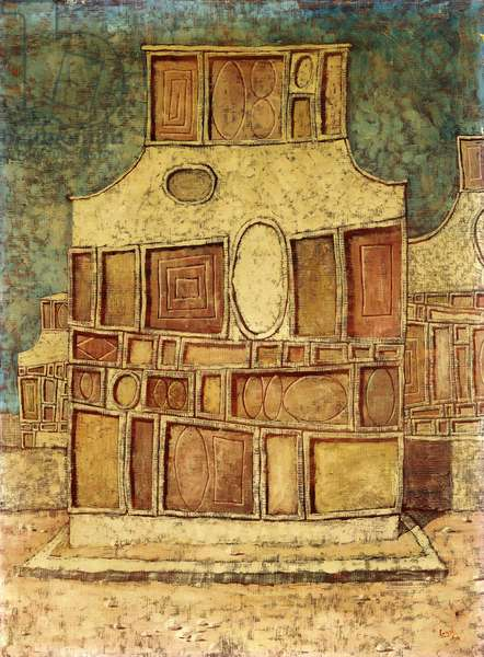 Facade No. 2, 1954 (oil on canvas)