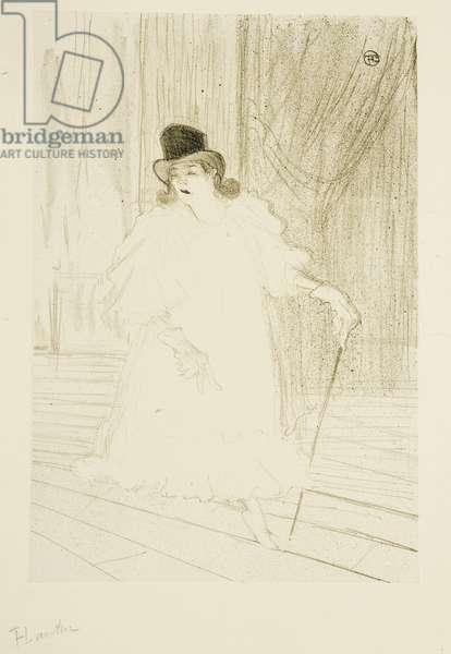 Cecy Loftus, 1895 (colour litho)
