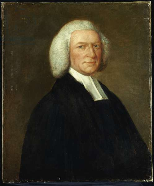 Portrait of Bishop Woodward, half length, in clerical robes, c.1756-58 (oil on canvas)