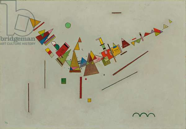 Angular Swing; Winkelschwung, 1929 (oil on board)
