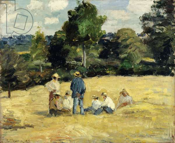 The Harvesters Rest, Montfoucault; Le Repos des Moissoneurs, Monfoucault, 1875 (oil on canvas)