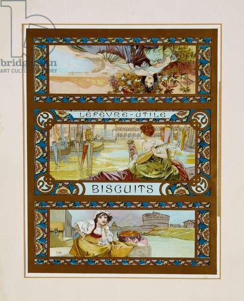 Lefevre-Utile, Biscuits, c.1910 (lithograph in colours)