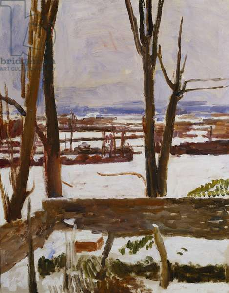 Snow at Charleston: A View from the Studio, c.1944 (oil on canvas)
