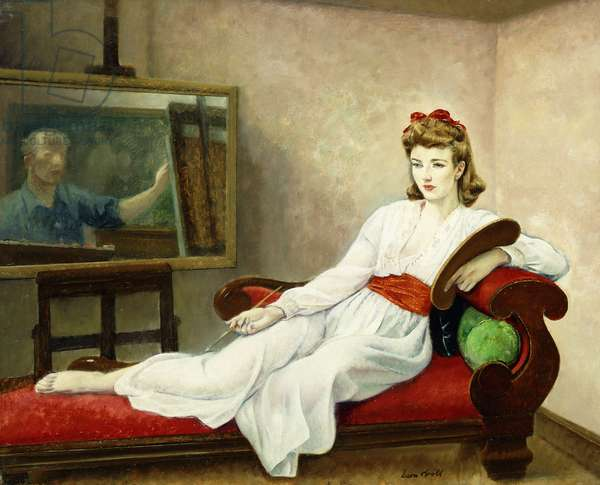 Ione Robinson and Self-Portrait of the Artist,  (oil on canvas laid down on panel)