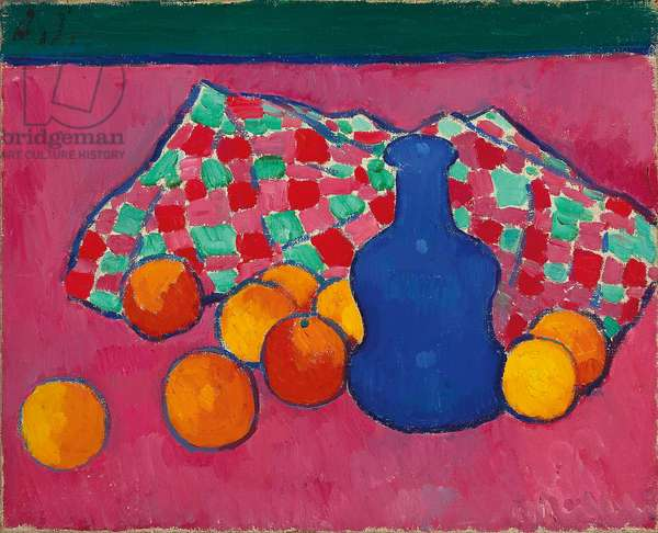 Blue Vase with Oranges, 1907 (oil on canvas)