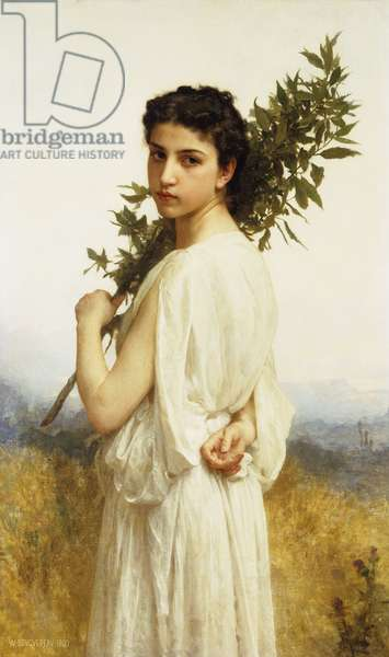 A Nymph Holding a Laurel Branch, 1900 (oil on canvas)