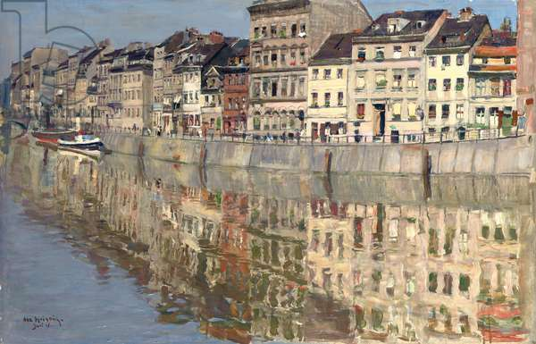 The Fischer Insel, Berlin, 1918 (oil on canvas)