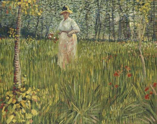 Woman in a Garden, 1887 (oil on canvas)
