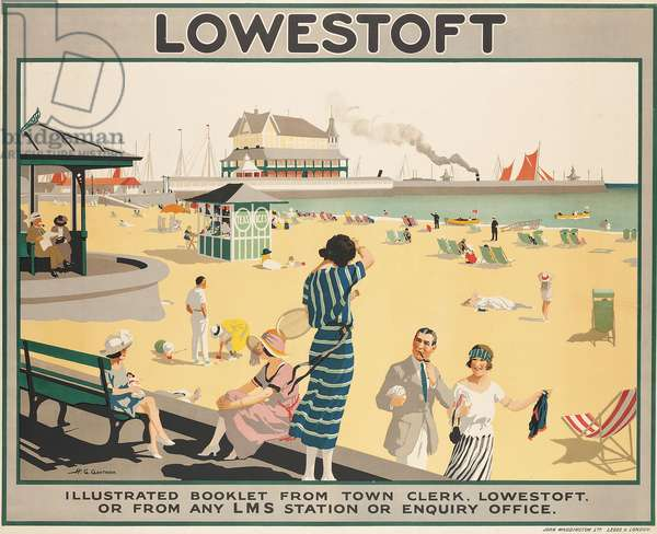 Poster advertising Lowestoft,  (colour lithograph)