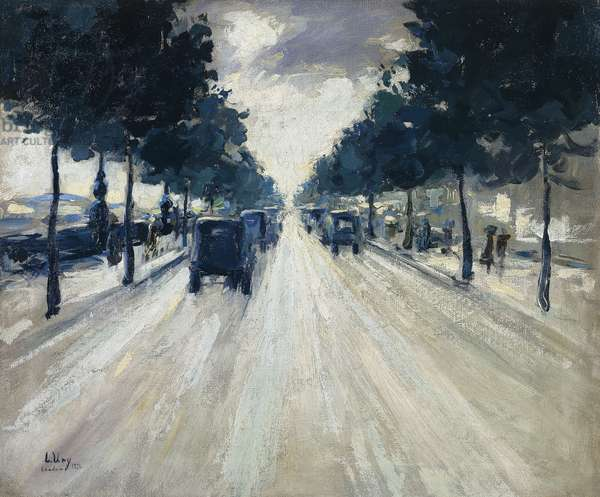 The Embankment, London, 1926 (oil on canvas)