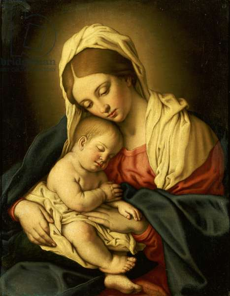 The Madonna and Child (oil on canvas)