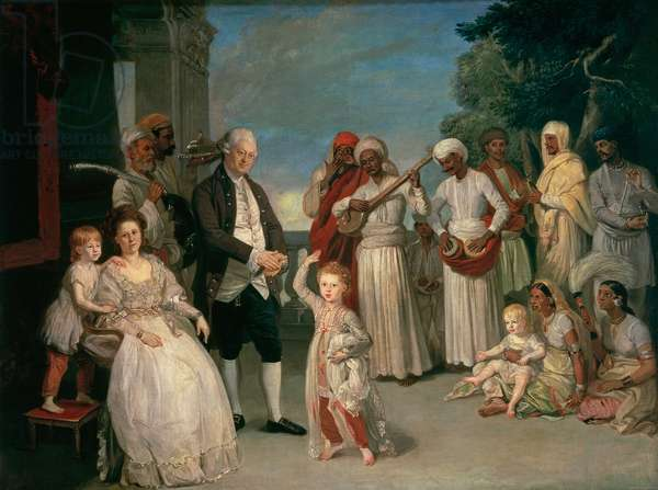 Sir Elijah and Lady Impey and Their Three Children (oil on canvas)