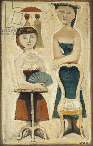 Two Girls; Due Ragazze, 1953 (oil on canvas)