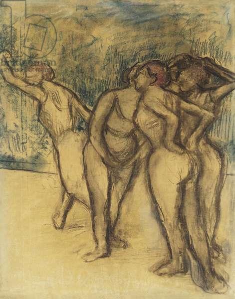Dancing-Girls; Les Danseuses, (pastel on paper)