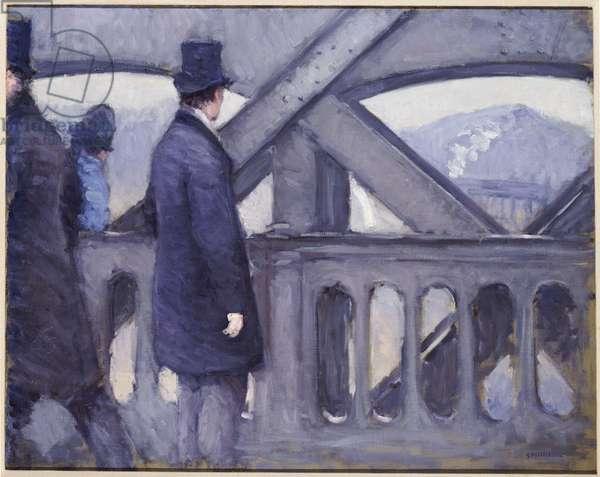 Le Pont de l'Europe, 1876 (oil on canvas)