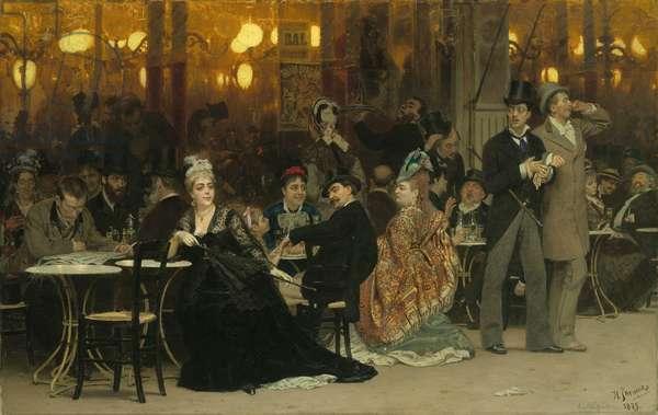 A Parisian Cafe, 1875 (oil on canvas)