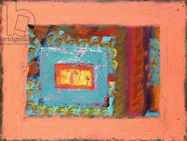 In the Guest Room, 1978-80 (oil on wood)