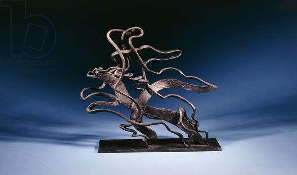 Circus Scene; Scene de Cirque,  (bronze with black patina)