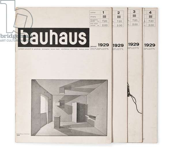 Issues from Volume 3 of the 'Bauhaus' magazine, 1929 (lithograph)