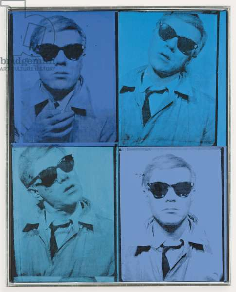 Self-Portrait, 1963-1964 (acrylic and silkscreen ink on canvas; in four parts)