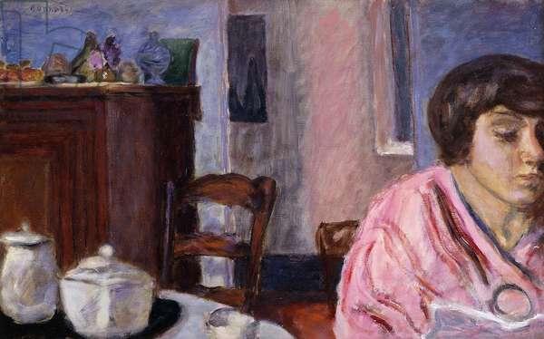 Interior with Figure; Interieur avec Figure, 1914-15 (oil on canvas)